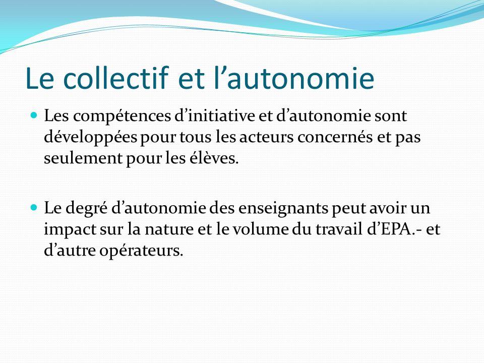 Le collectif et l'autonomie