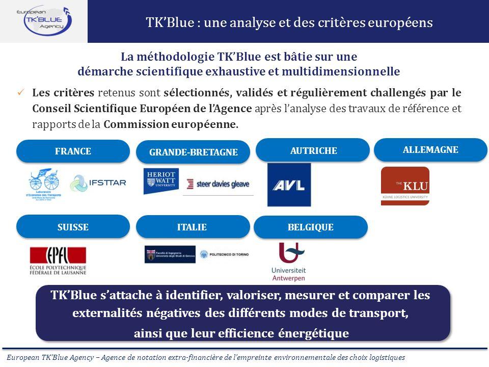 TK'Blue : une analyse et des critères européens