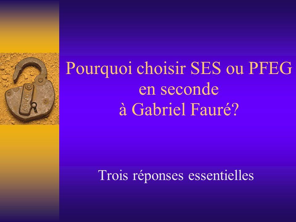 Pourquoi choisir SES ou PFEG en seconde à Gabriel Fauré