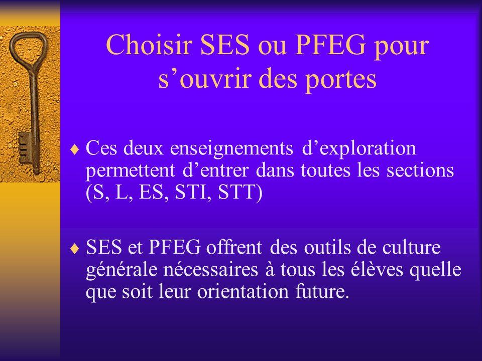 Choisir SES ou PFEG pour s'ouvrir des portes