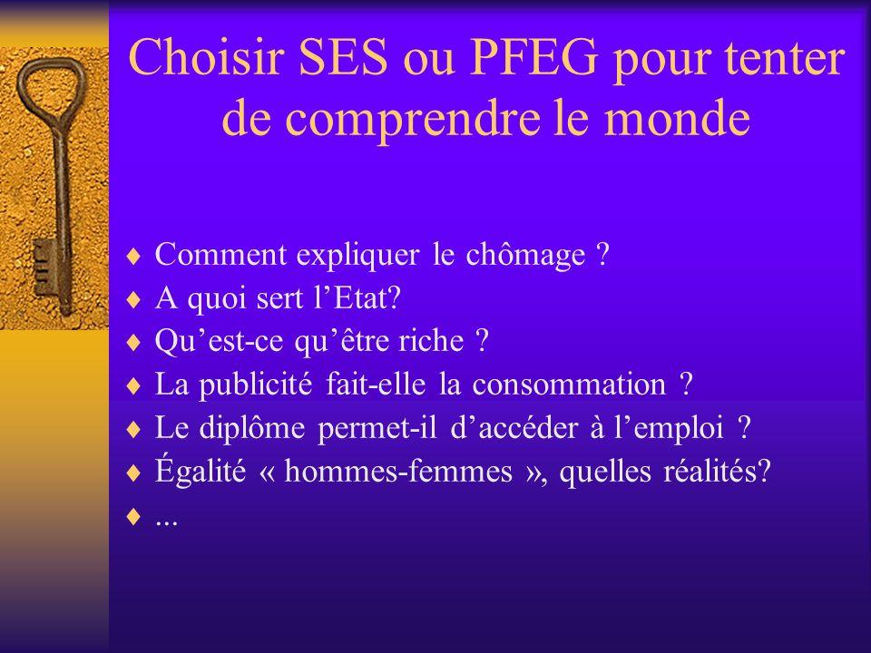 Choisir SES ou PFEG pour tenter de comprendre le monde