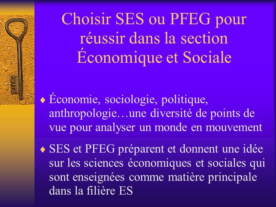 Choisir SES ou PFEG pour réussir dans la section Économique et Sociale