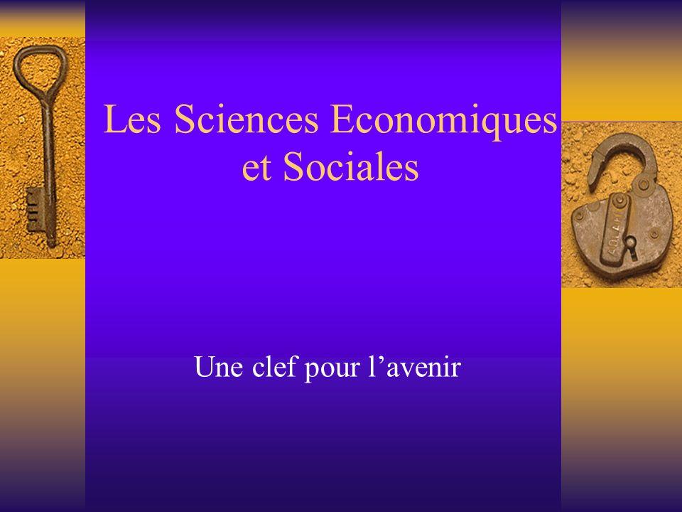 Les Sciences Economiques et Sociales