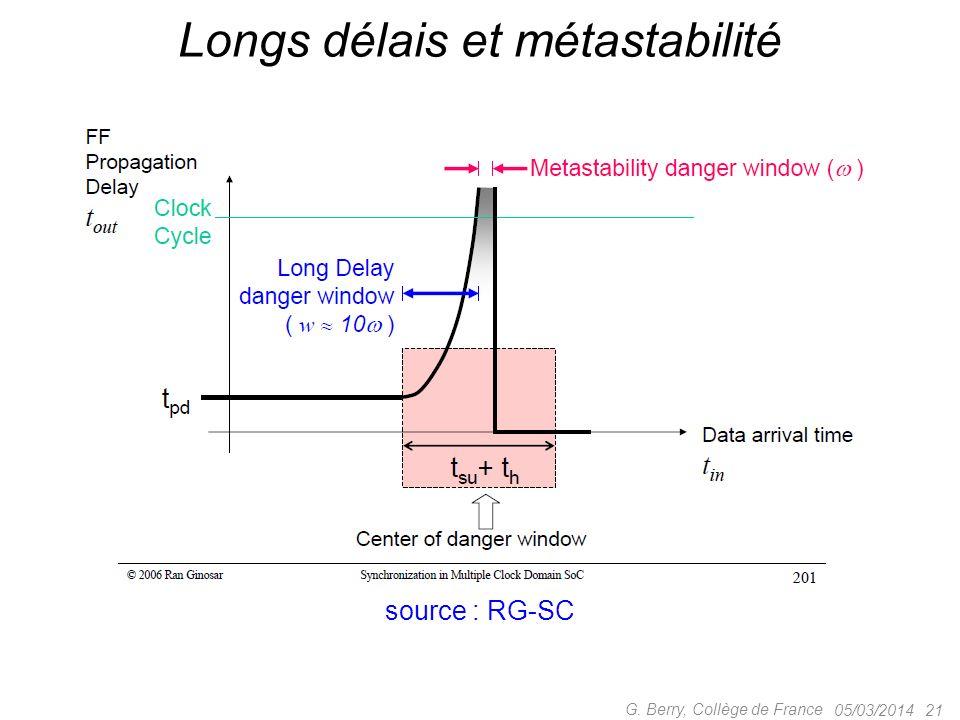 Longs délais et métastabilité