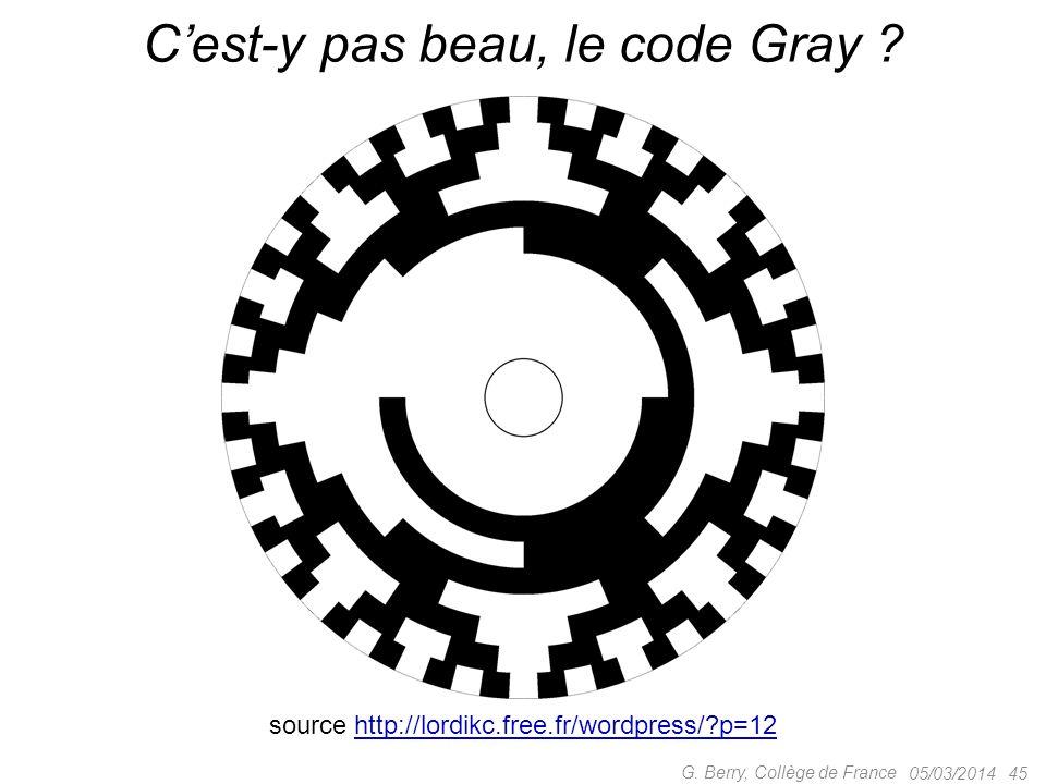 C'est-y pas beau, le code Gray