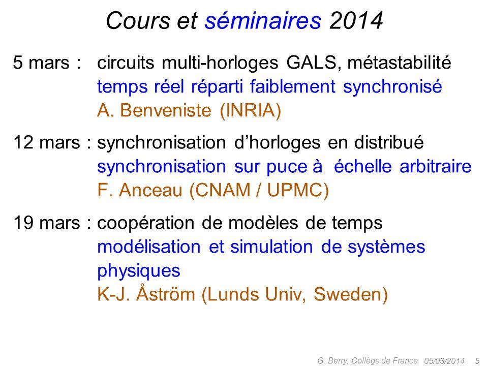 Cours et séminaires 2014