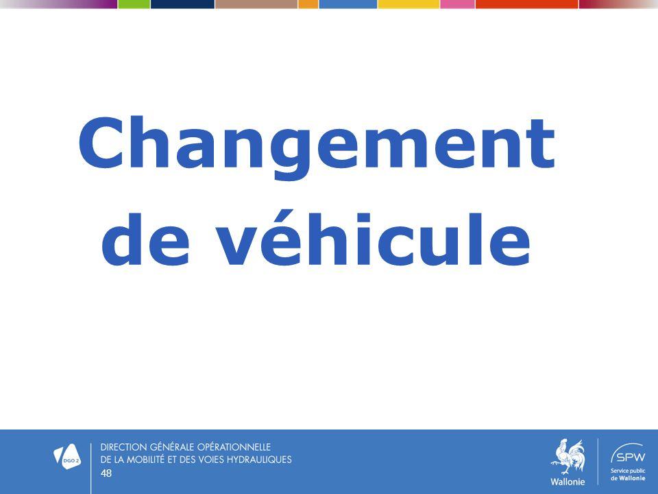 Changement de véhicule