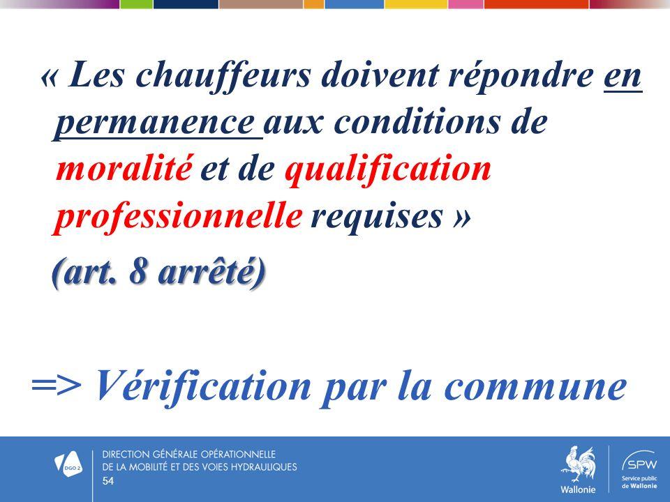 => Vérification par la commune
