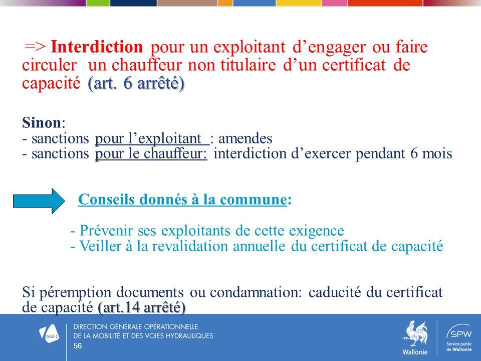 - sanctions pour l'exploitant : amendes