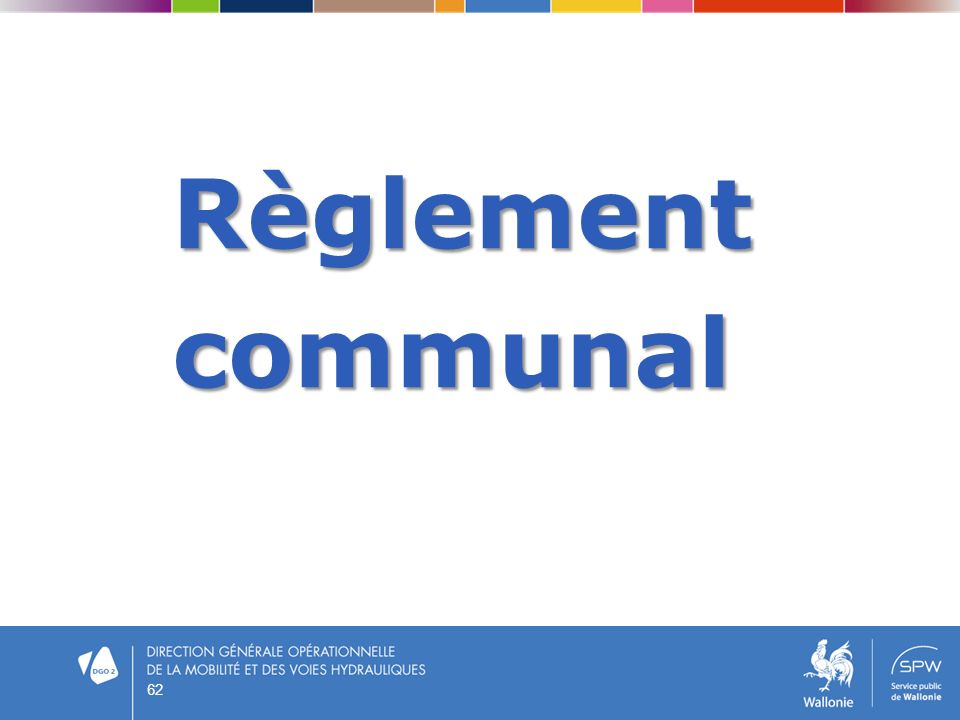 Règlement communal 62