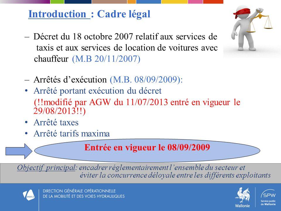 Introduction : Cadre légal