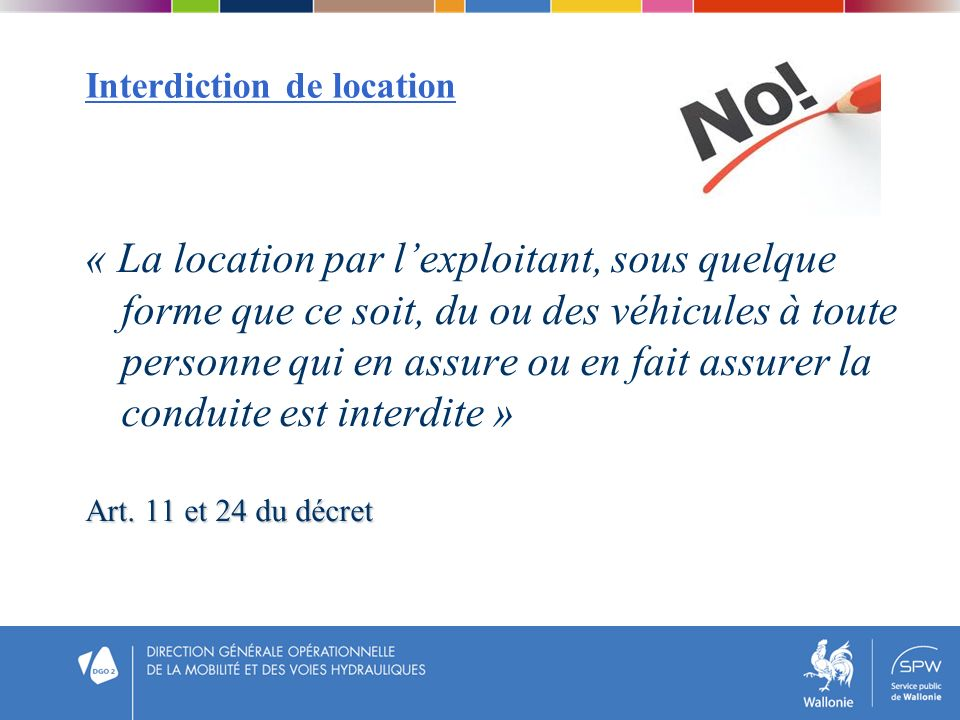 Interdiction de location