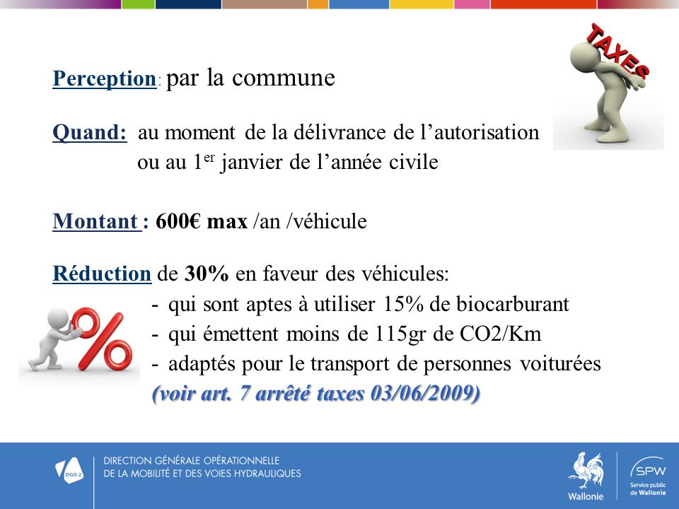 Perception: par la commune