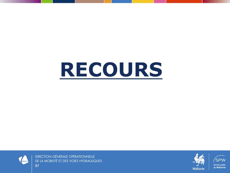 RECOURS 87