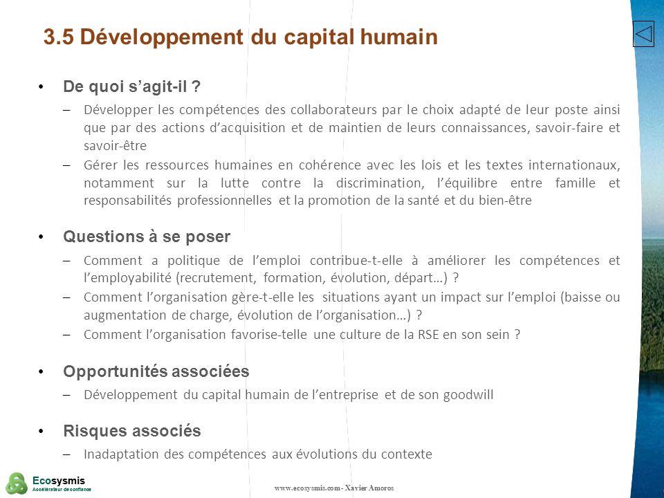 3.5 Développement du capital humain