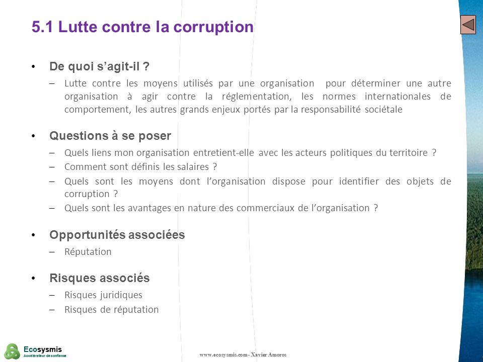 5.1 Lutte contre la corruption