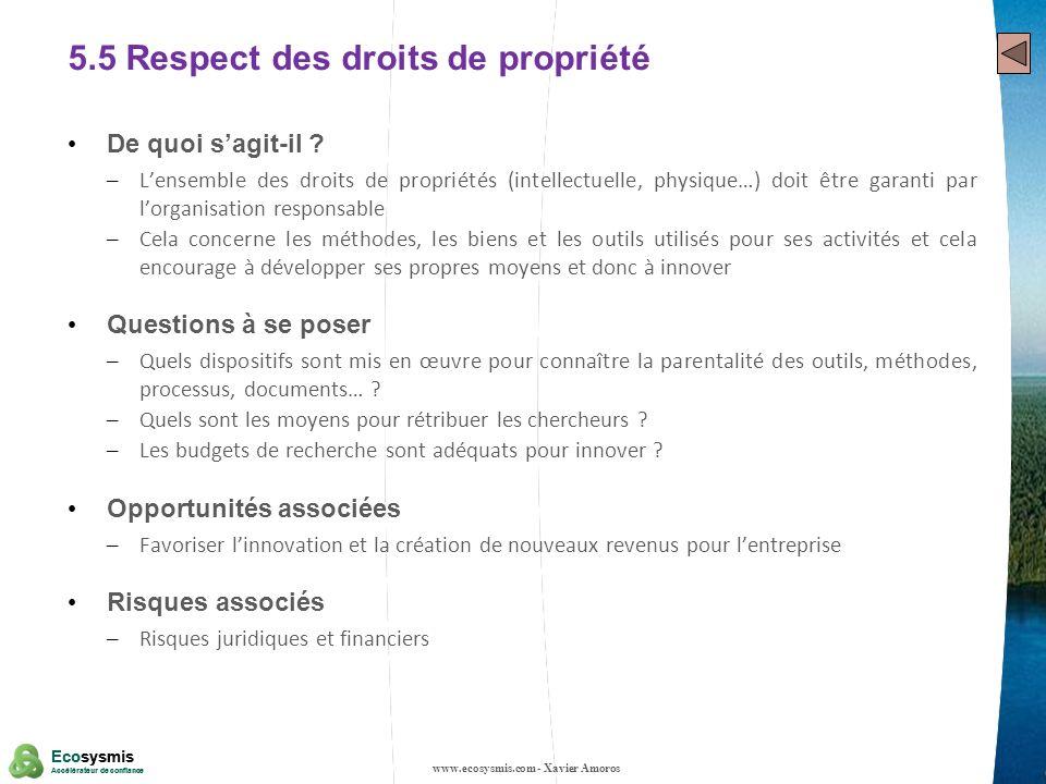 5.5 Respect des droits de propriété