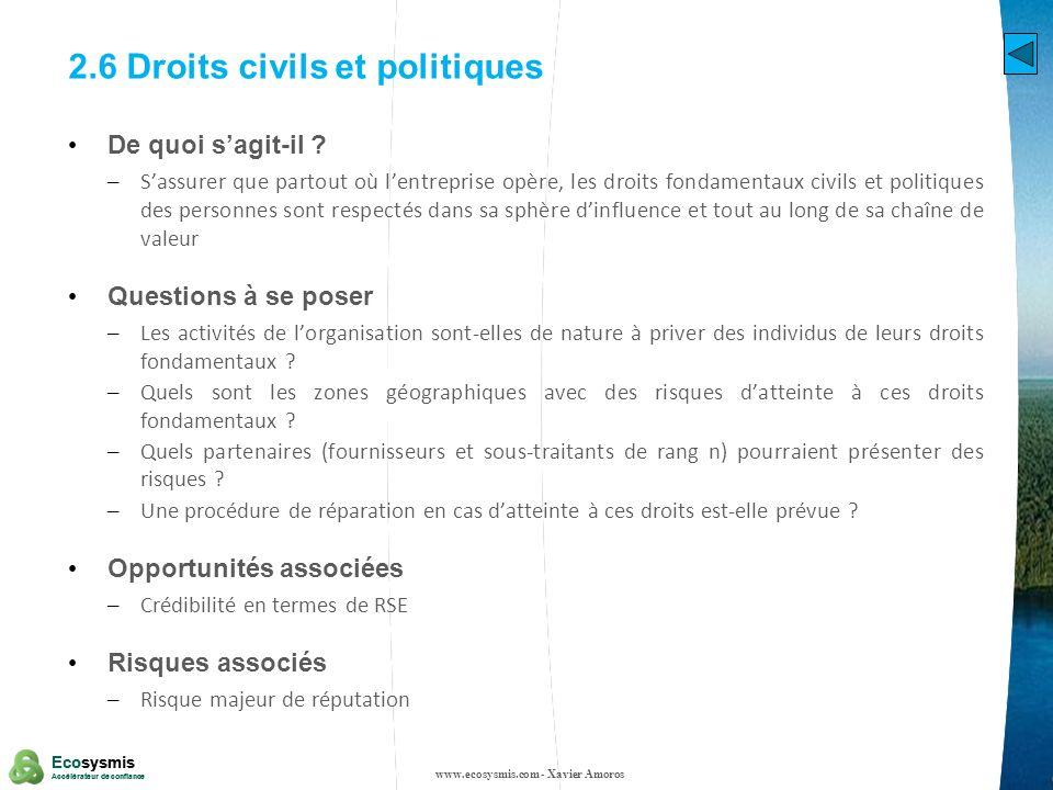 2.6 Droits civils et politiques