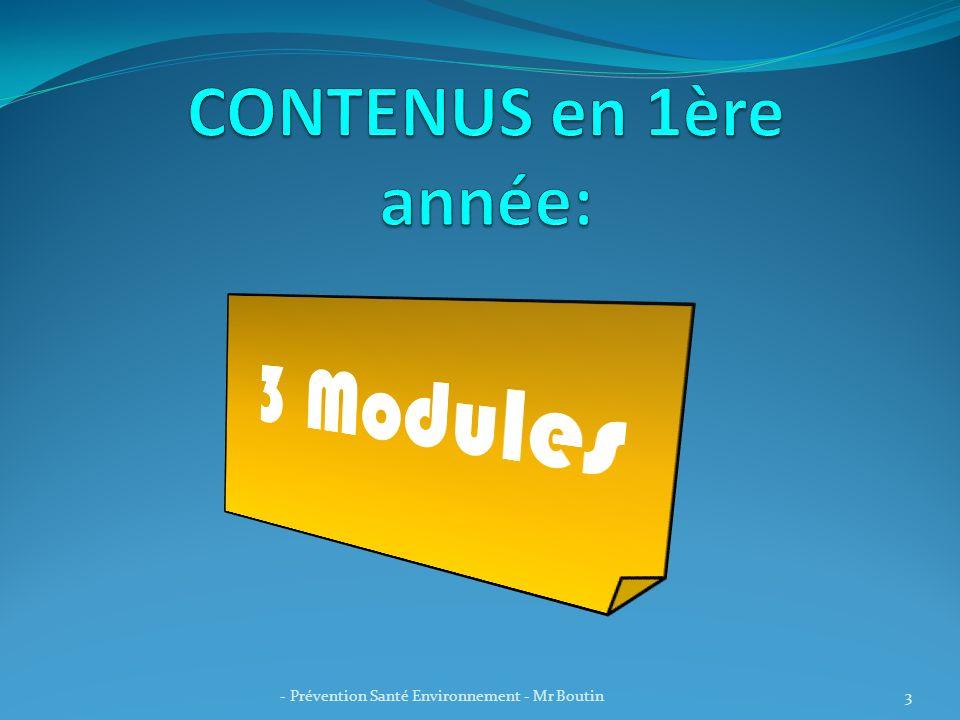 CONTENUS en 1ère année: 3 Modules