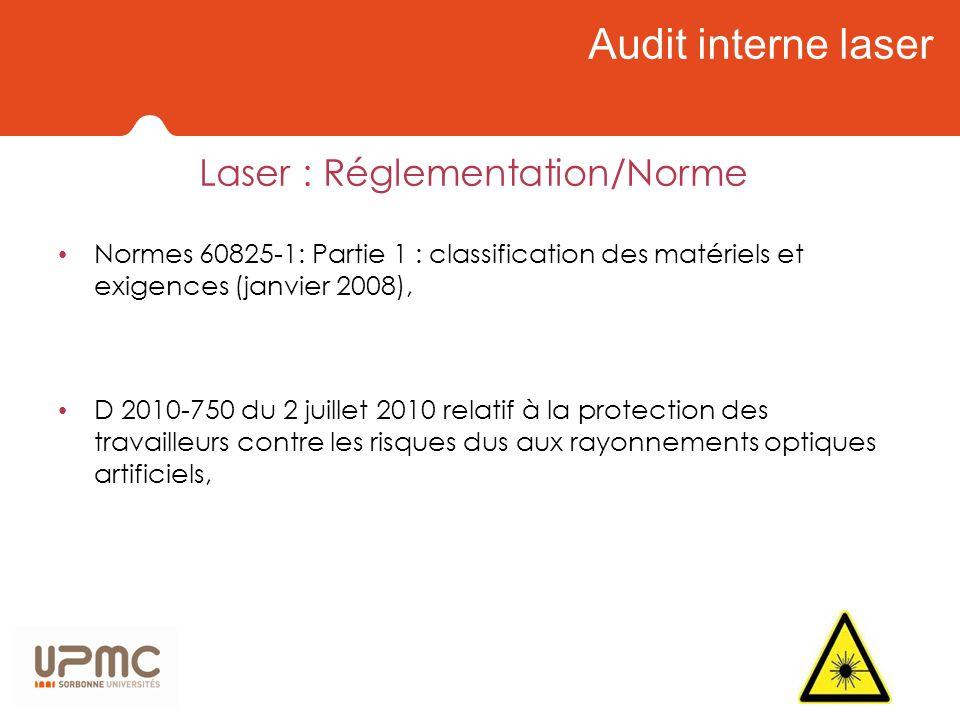 Laser : Réglementation/Norme