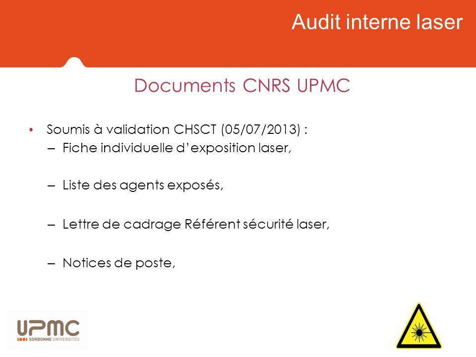 Audit interne laser Documents CNRS UPMC