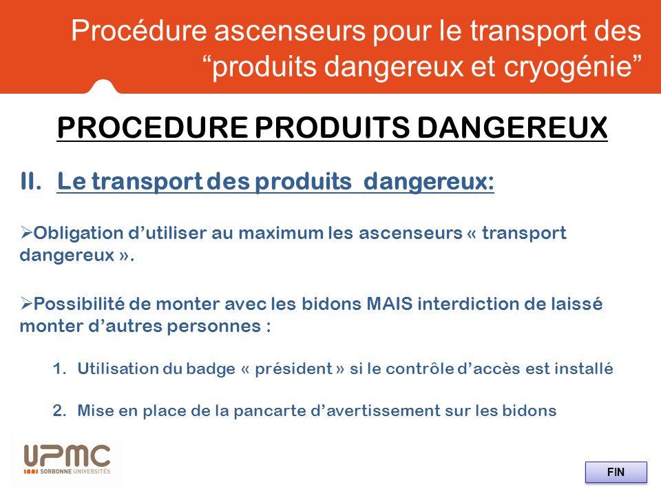 PROCEDURE PRODUITS DANGEREUX