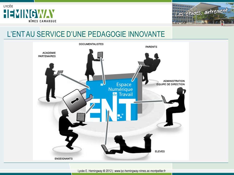 L'ENT AU SERVICE D'UNE PEDAGOGIE INNOVANTE