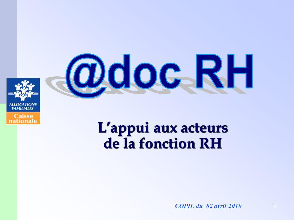 L'appui aux acteurs de la fonction RH