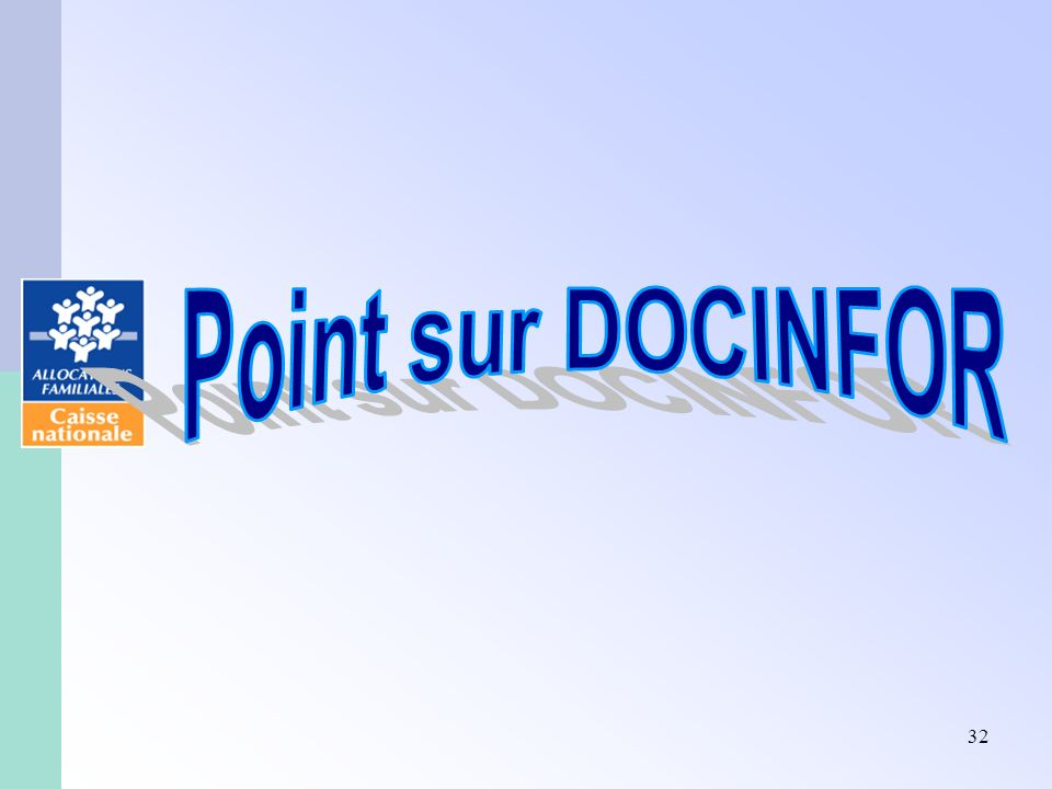 Point sur DOCINFOR