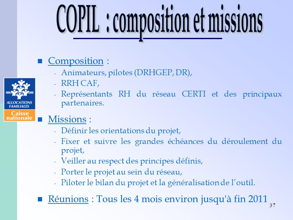 COPIL : composition et missions