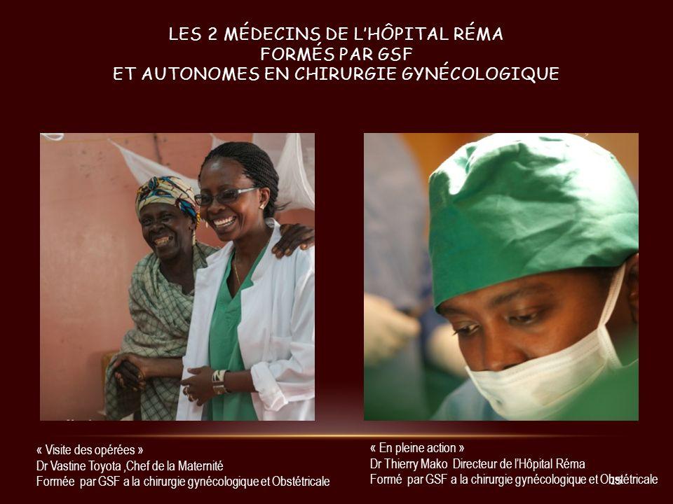 les 2 médecins de l'hôpital Réma formés par GSF