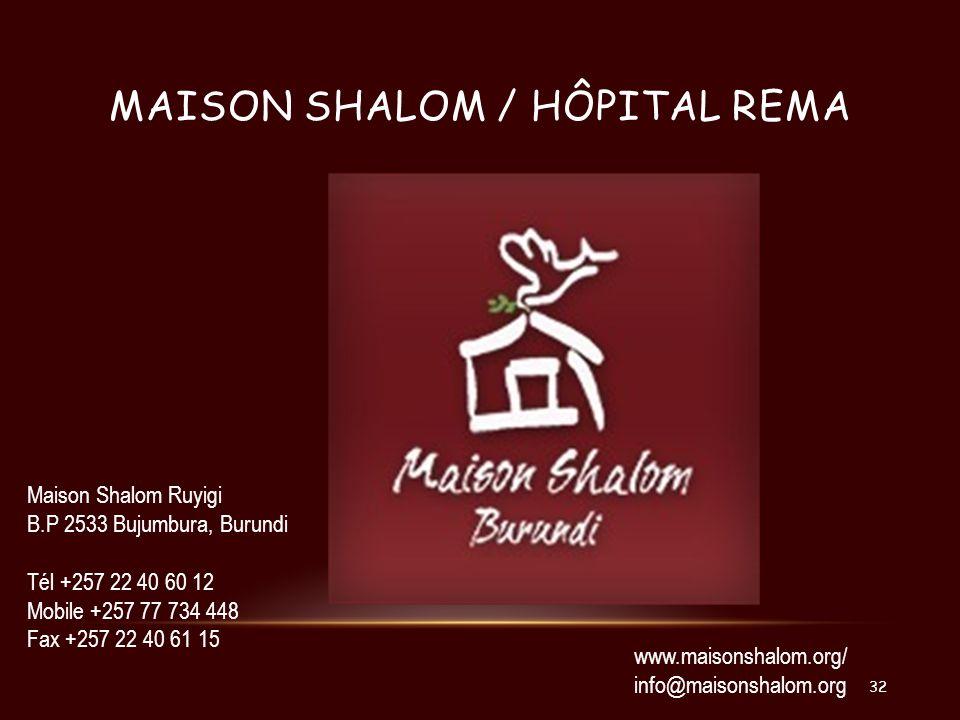 maison shalom / hôpital rema