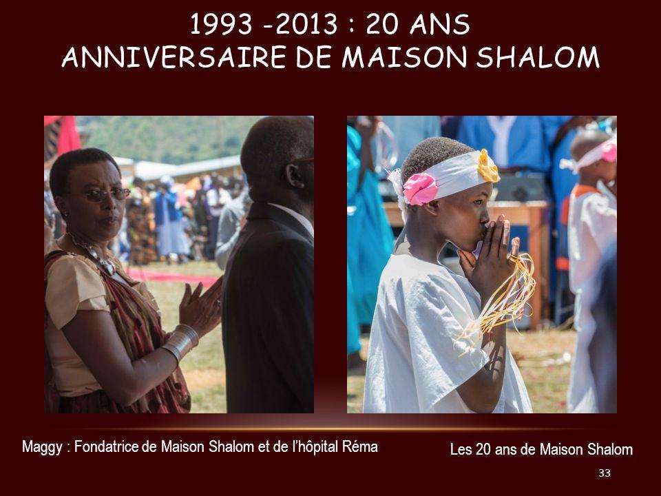 1993 -2013 : 20 ans Anniversaire de Maison Shalom