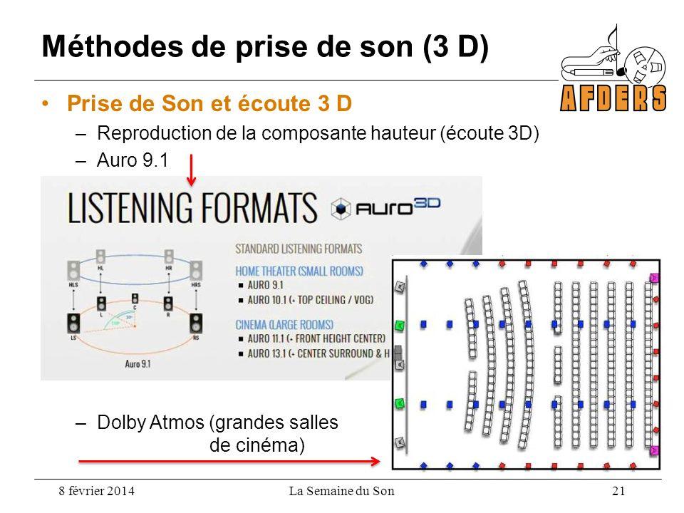 Méthodes de prise de son (3 D)