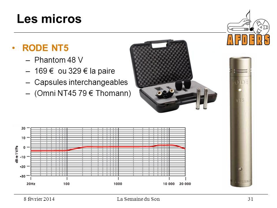 Les micros RODE NT5 Phantom 48 V 169 € ou 329 € la paire