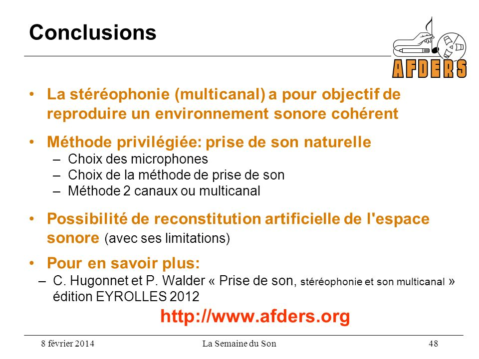 Conclusions http://www.afders.org