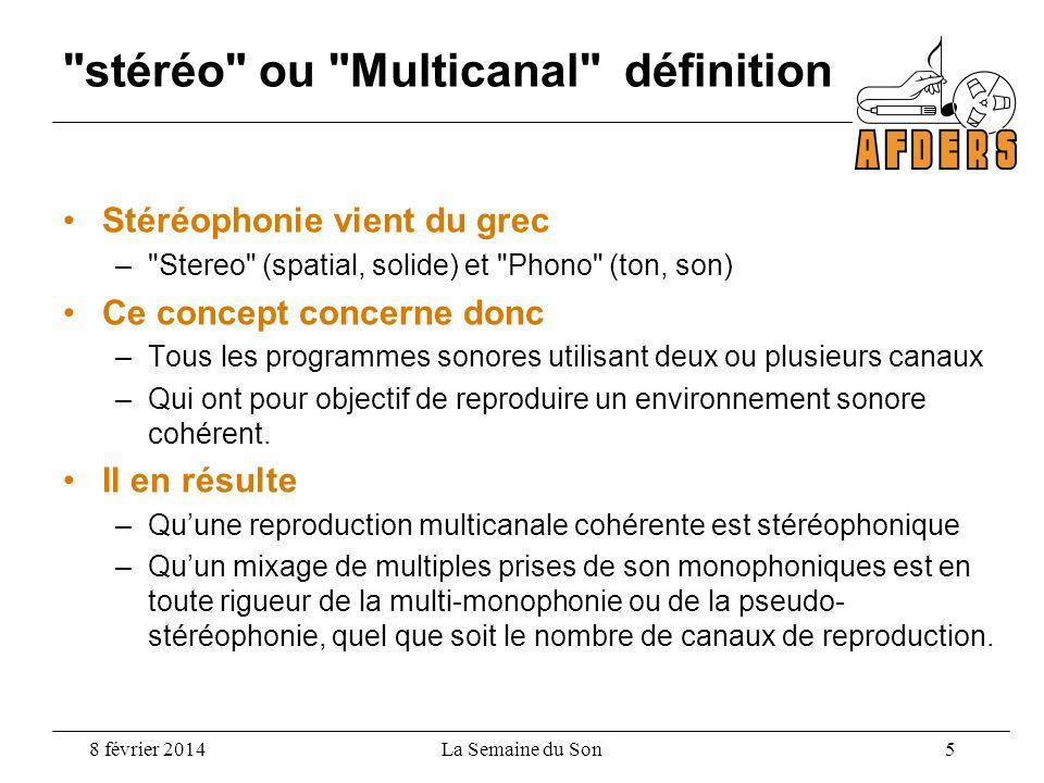 stéréo ou Multicanal définition