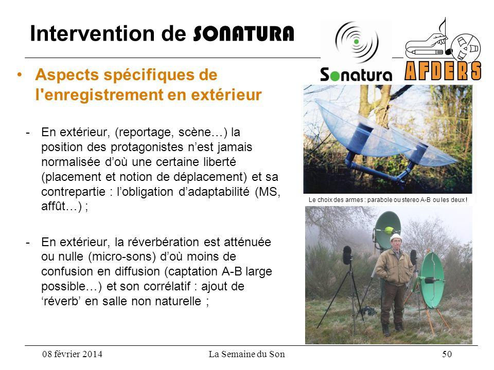 Intervention de SONATURA