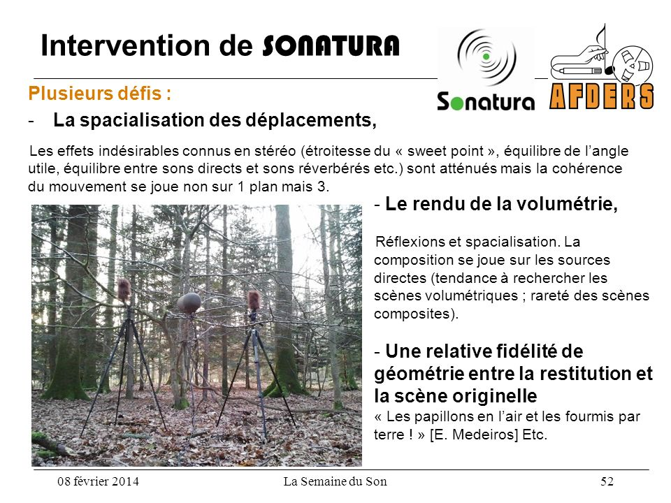 Intervention de SONATURA
