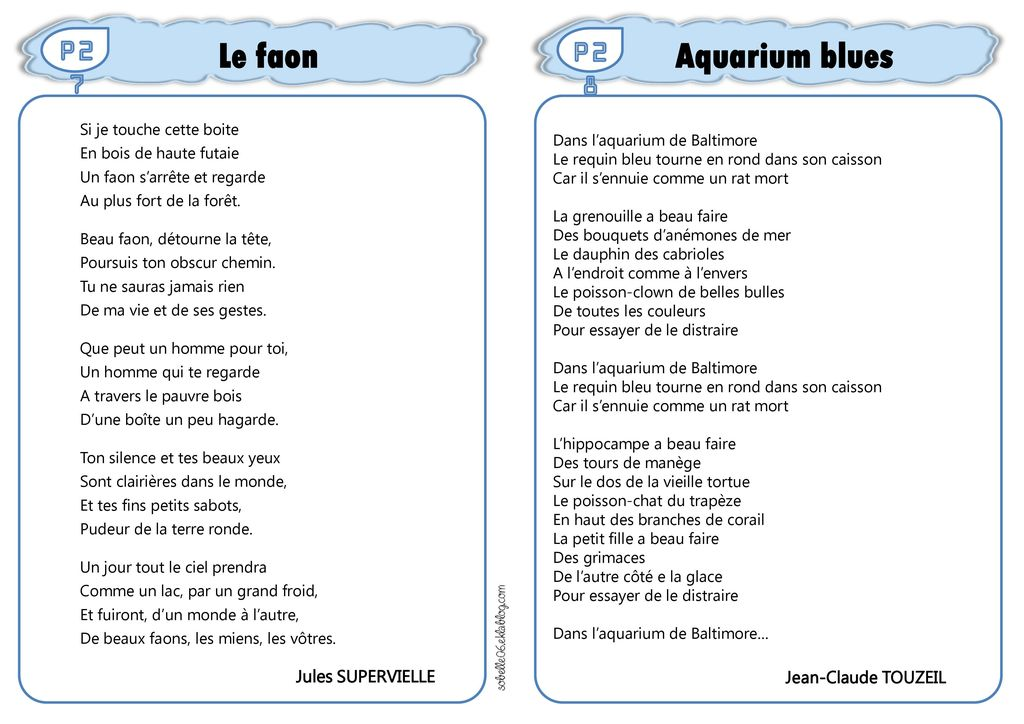 Le faon Aquarium blues P27 P28 Jules SUPERVIELLE Jean-Claude TOUZEIL