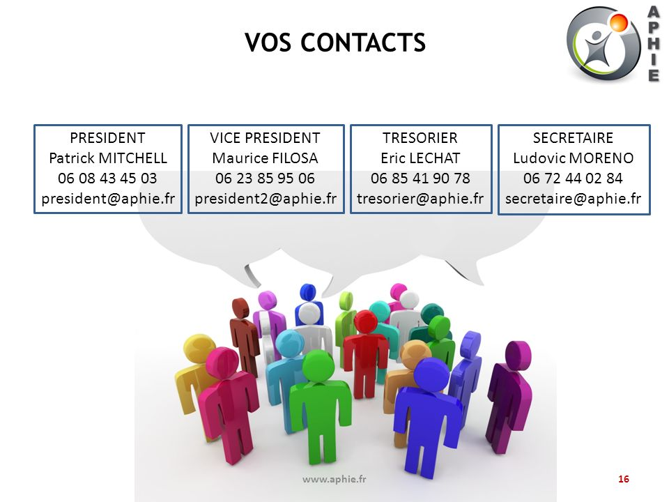 VOS CONTACTS PRESIDENT Patrick MITCHELL 06 08 43 45 03
