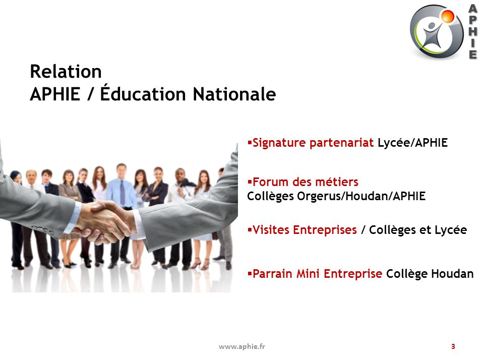 Relation APHIE / Éducation Nationale