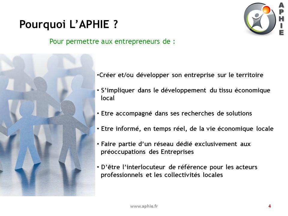 Pourquoi L'APHIE Pour permettre aux entrepreneurs de :