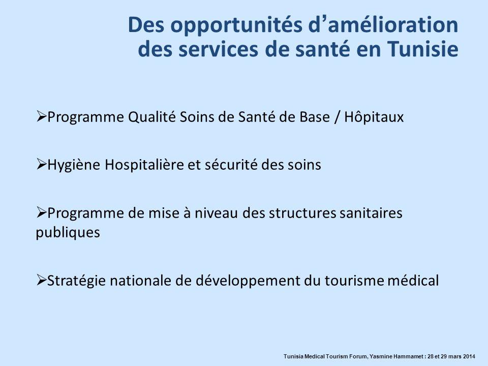 Des opportunités d'amélioration des services de santé en Tunisie