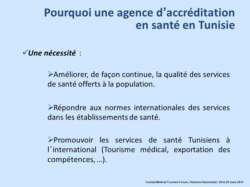 Pourquoi une agence d'accréditation en santé en Tunisie