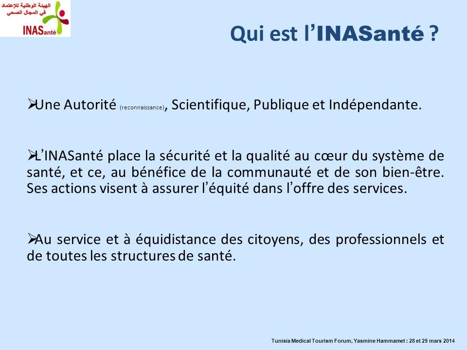 Qui est l'INASanté Une Autorité (reconnaissance), Scientifique, Publique et Indépendante.
