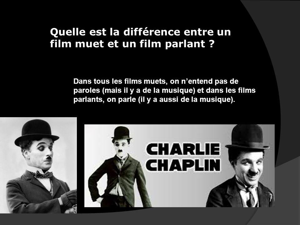 Quelle est la différence entre un film muet et un film parlant