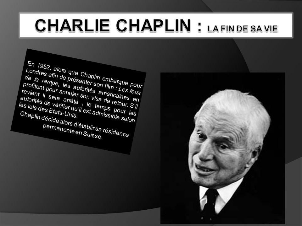 Charlie Chaplin : La fin de sa vie