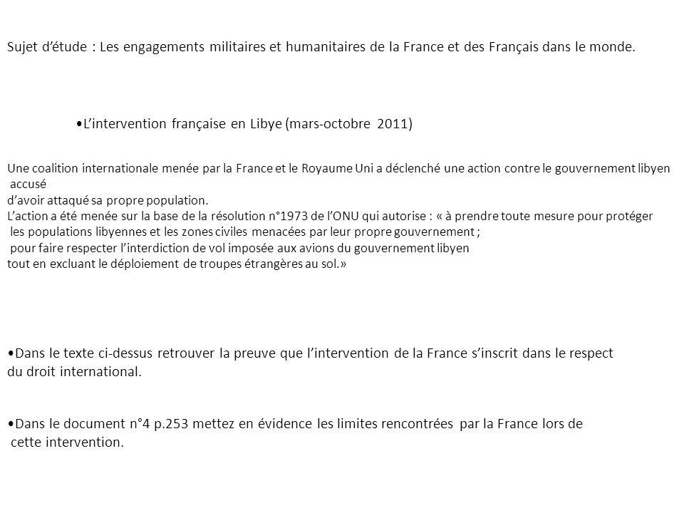 L'intervention française en Libye (mars-octobre 2011)