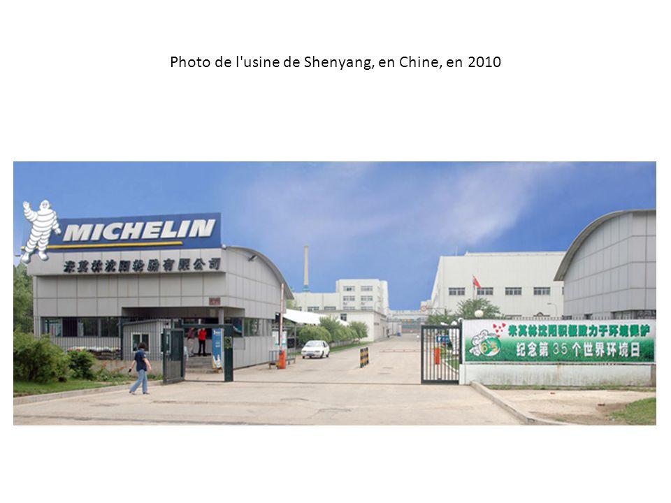 Photo de l usine de Shenyang, en Chine, en 2010